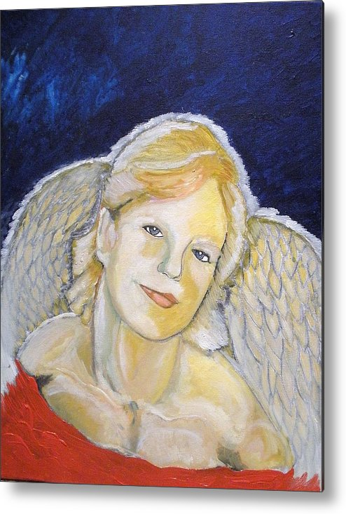 Angel Metal Print featuring the painting Christmas Angel  Finished by J Bauer