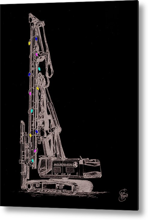 Christmas Metal Print featuring the digital art Christmas Intercoastal Abi by Stacey May