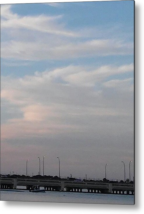 Metal Print featuring the photograph Clouds And Lake2 by John Hiatt