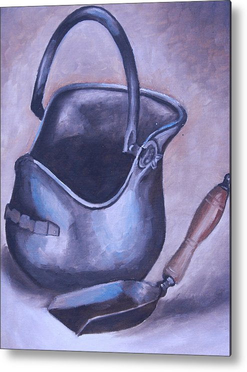 Coal Mining Paintings Metal Print featuring the painting Coal Pail by Mikayla Ziegler