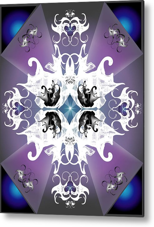 Fantasy Metal Print featuring the digital art Coat Of Arms by George Pasini