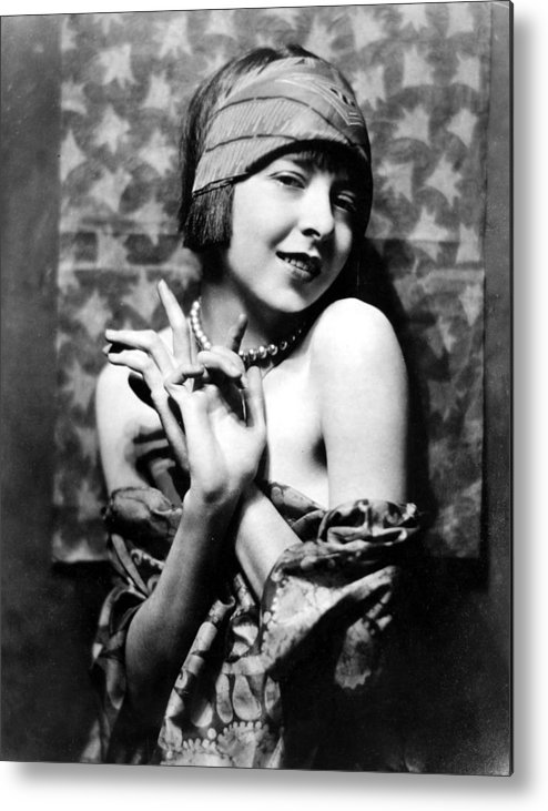 1920s Fashion Metal Print featuring the photograph Colleen Moore, Around 1927 by Everett