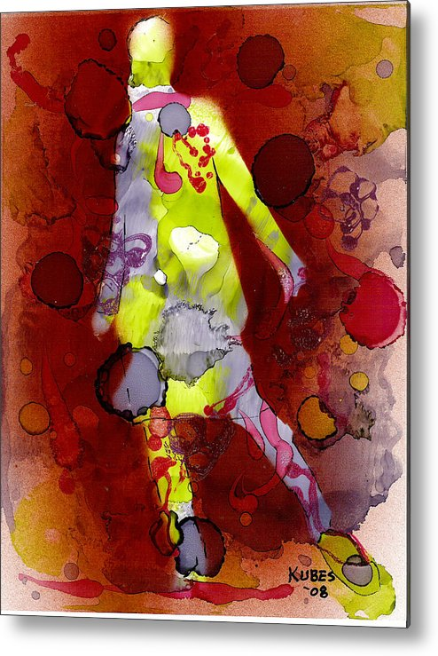 Woman Girl Female Impressionist Empowerment Metal Print featuring the mixed media Coming Of Age by Susan Kubes