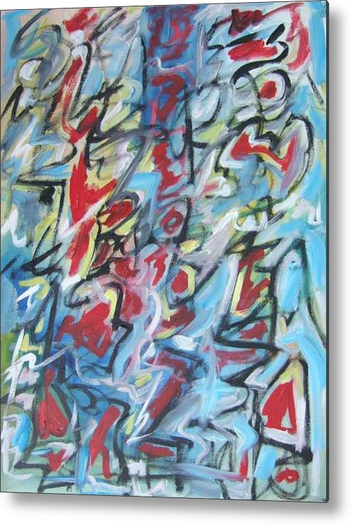 Abstract Metal Print featuring the painting Composition No 7 by Michael Henderson