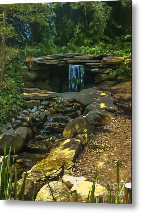 Scenery Metal Print featuring the digital art Cool Glade 2015 by Kathryn Strick
