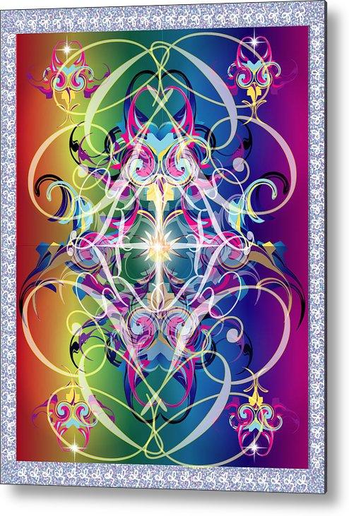 Decor Metal Print featuring the digital art Decorative 10 by George Pasini