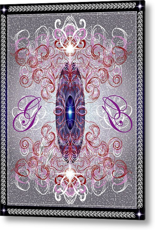 Decor Metal Print featuring the digital art Decorative No8 by George Pasini