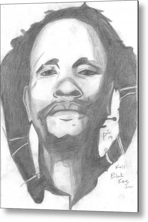 Dedan Kimathi Portrait Metal Print featuring the drawing Dedan Kimathi by Chris Gitau