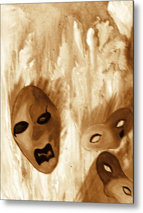Abstract Metal Print featuring the print Don't Follow The Leader by Beverly Baxter