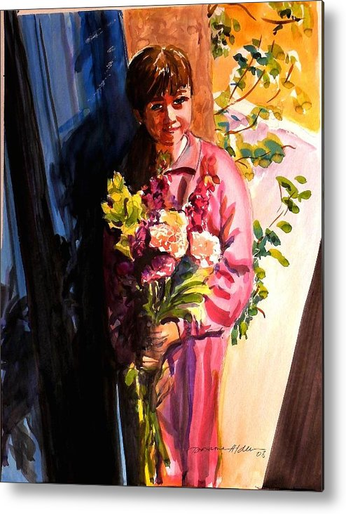 People Metal Print featuring the painting Easter Bouquet by Doranne Alden
