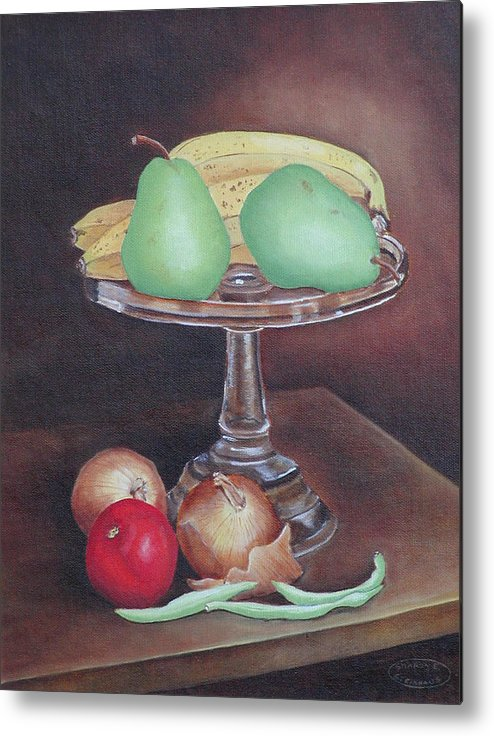 Still Life Metal Print featuring the painting Essentials by Sharon Steinhaus