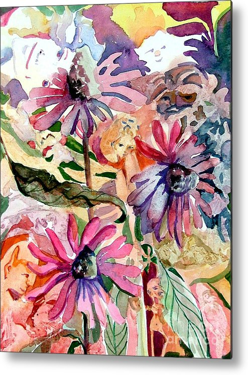 Daisy Metal Print featuring the painting Fairy Land by Mindy Newman