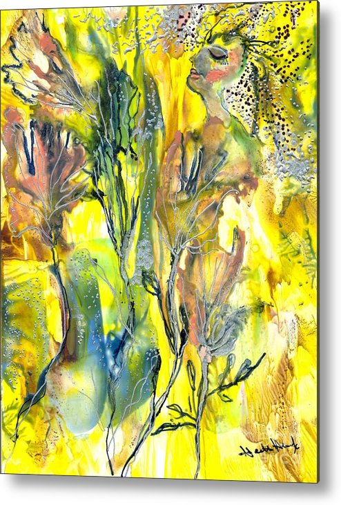 Healing Metal Print featuring the painting Feeling Of The Heart by Heather Hennick