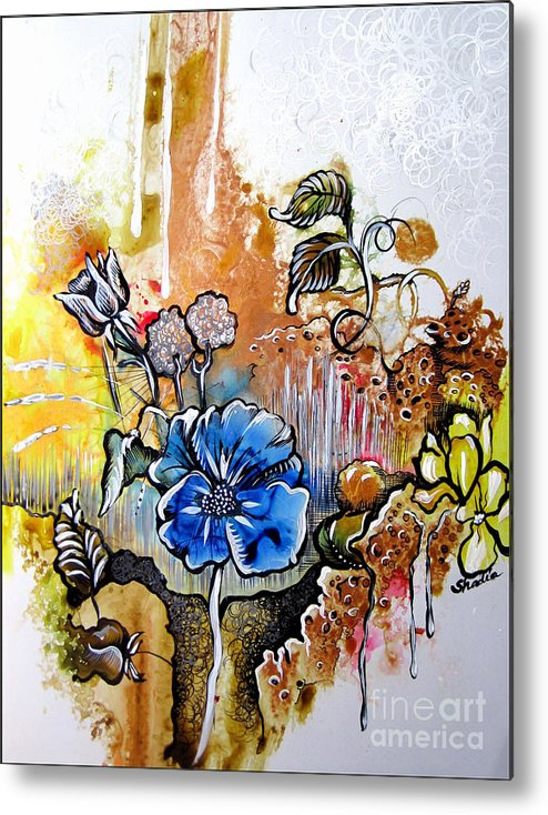 Art Metal Print featuring the painting First Light In The Garden Of Eden by Shadia Derbyshire