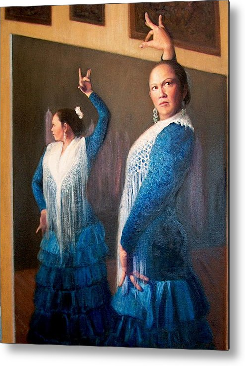 Realism Metal Print featuring the painting Flamenco 3 by Donelli DiMaria