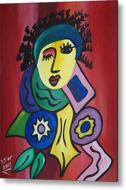 Flirt Metal Print featuring the painting Flirt by Dawn Siler