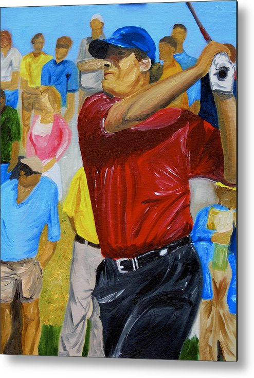 Golf Metal Print featuring the painting Four by Michael Lee