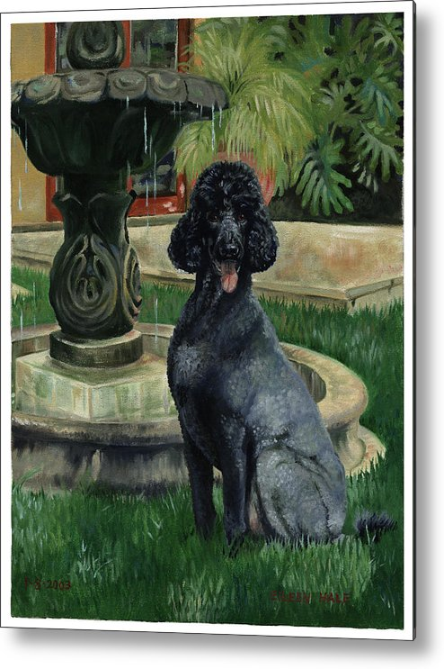 Portrait Metal Print featuring the painting Frankie by Eileen Hale
