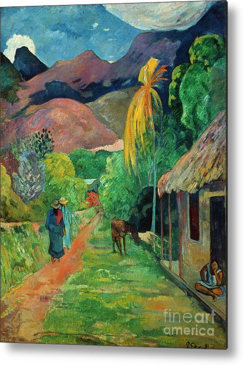 19th Century Metal Print featuring the photograph Gauguin Tahiti 19th Century by Granger