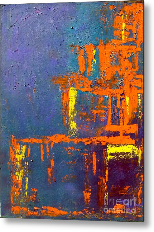 Abstract Metal Print featuring the painting Geometry by Inna Montano