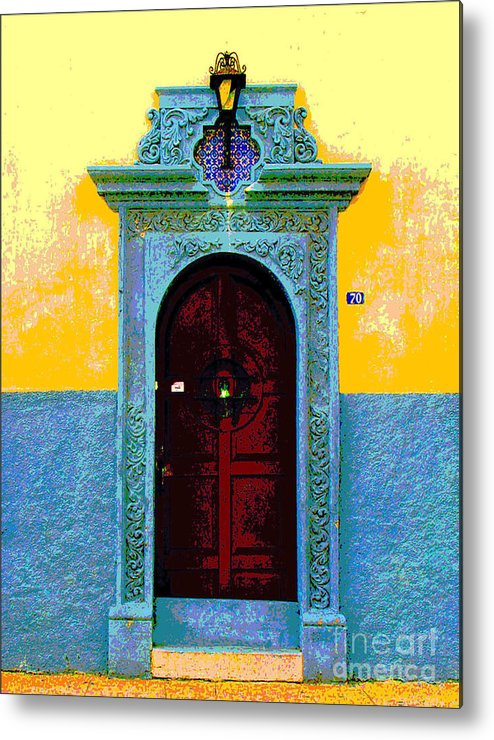 Darian Day Metal Print featuring the photograph Graceful Door By Darian Day by Mexicolors Art Photography
