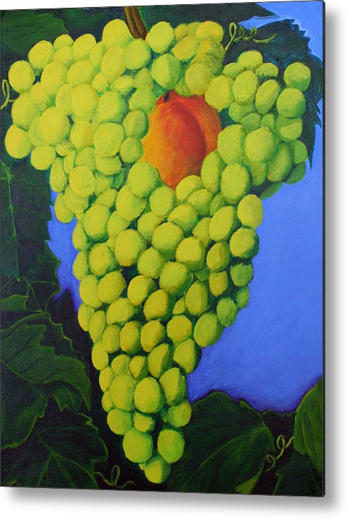 Grapes Metal Print featuring the painting Grapes by Karen Aune