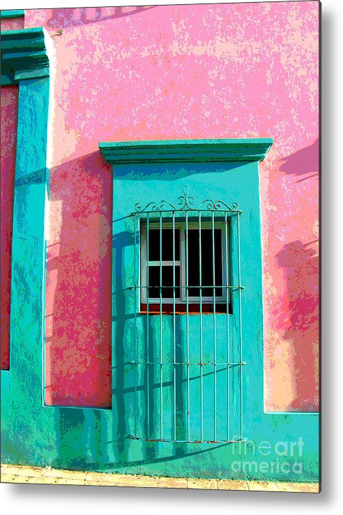Darian Day Metal Print featuring the photograph Green Door By Darian Day by Mexicolors Art Photography