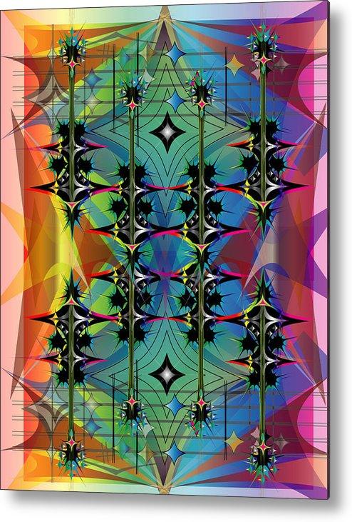 Guitar Metal Print featuring the digital art Guitar Festival by George Pasini
