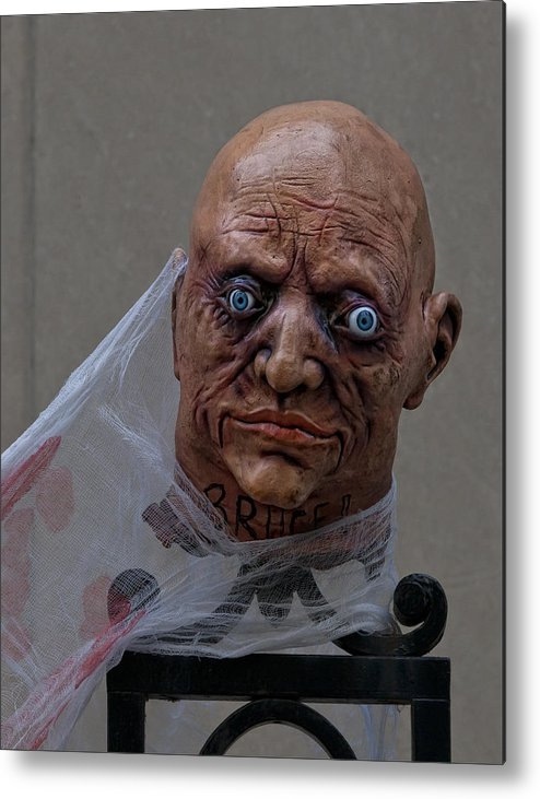 Scary Metal Print featuring the photograph Halloween Head by Robert Ullmann
