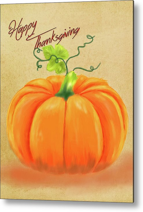 Happy Thanksgiving Greeting Card Metal Print featuring the photograph Happy Thanksgiving Greeting Card by Mary Timman