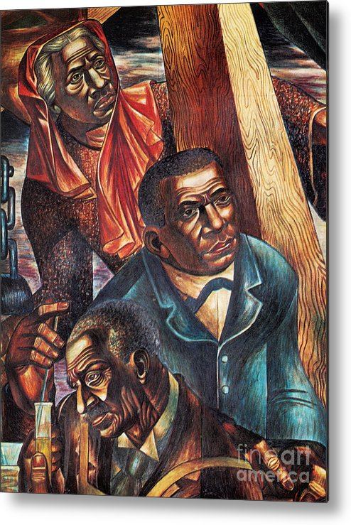 Booker T. Washington Metal Print featuring the photograph Harriet Tubman, Booker Washington by Photo Researchers