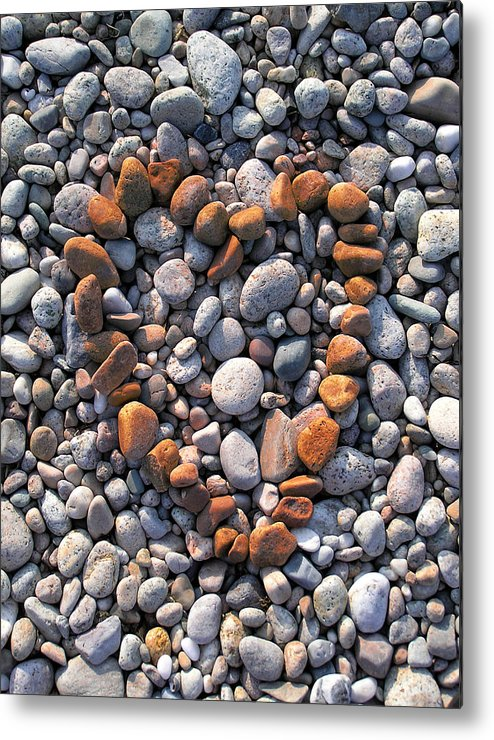 Heart Metal Print featuring the photograph Heart Of Stones by Charles Harden