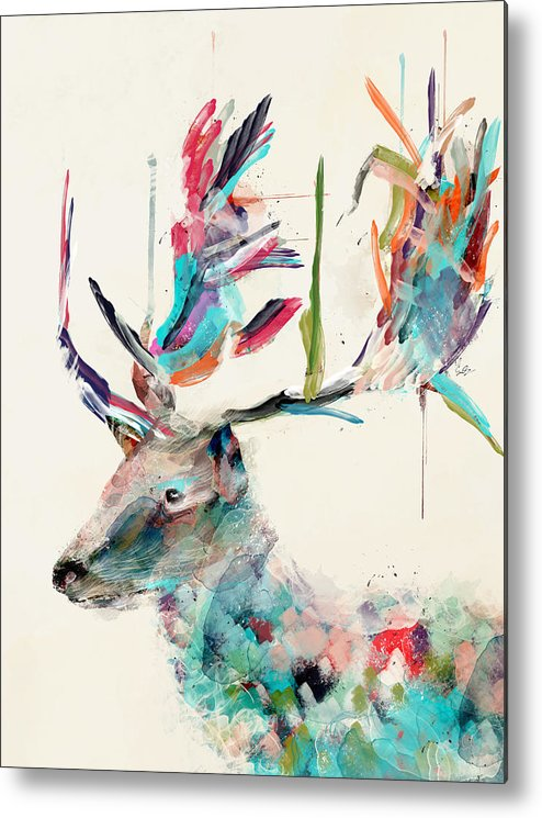 Deer Metal Print featuring the painting Into The Wild by Bri Buckley