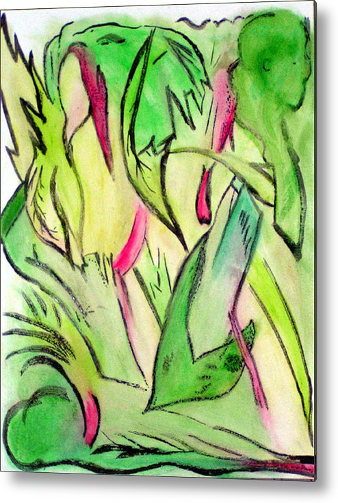 Jungle Metal Print featuring the painting It's A Jungle Out There by Anita Kimball
