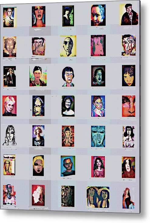 Faces Metal Print featuring the digital art It's All About Faces by Noredin Morgan