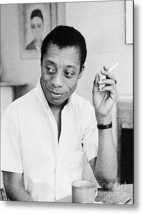 1950s Metal Print featuring the photograph James Baldwin by Granger