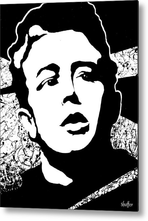 James Dean Metal Print featuring the painting James Dean by Curtiss Shaffer