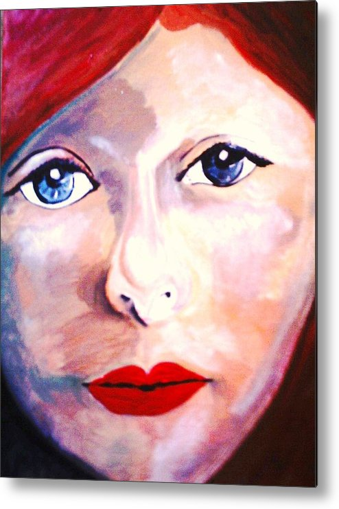 Angel Metal Print featuring the painting Jana   Finished by J Bauer