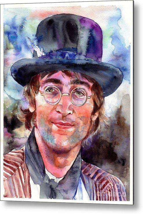 John Metal Print featuring the painting John Lennon Portrait by Suzann Sines