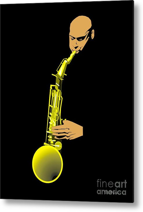 Portraits Metal Print featuring the digital art Joshua Redman by Walter Oliver Neal