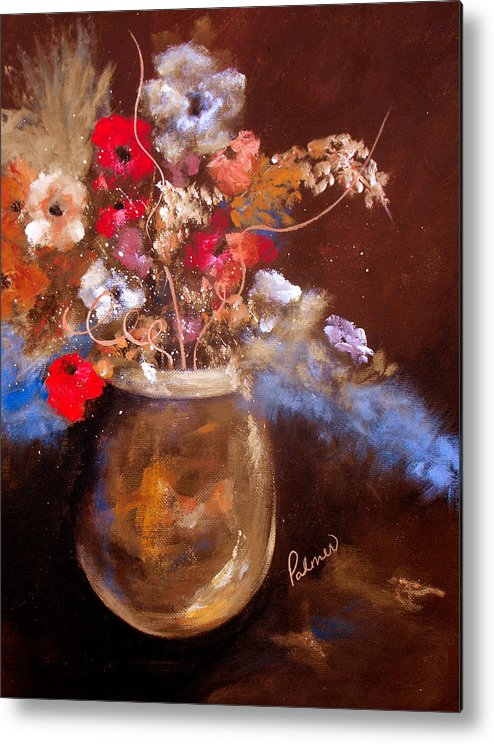ruth Palmer Metal Print featuring the painting Just Flowers by Ruth Palmer