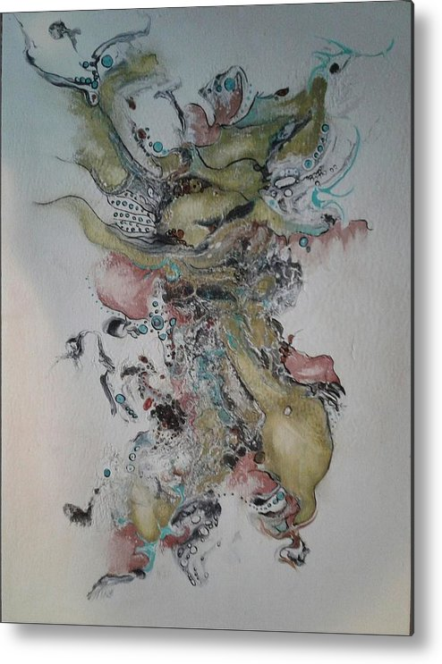 Kabuki Metal Print featuring the painting Kabuki by Pat Purdy