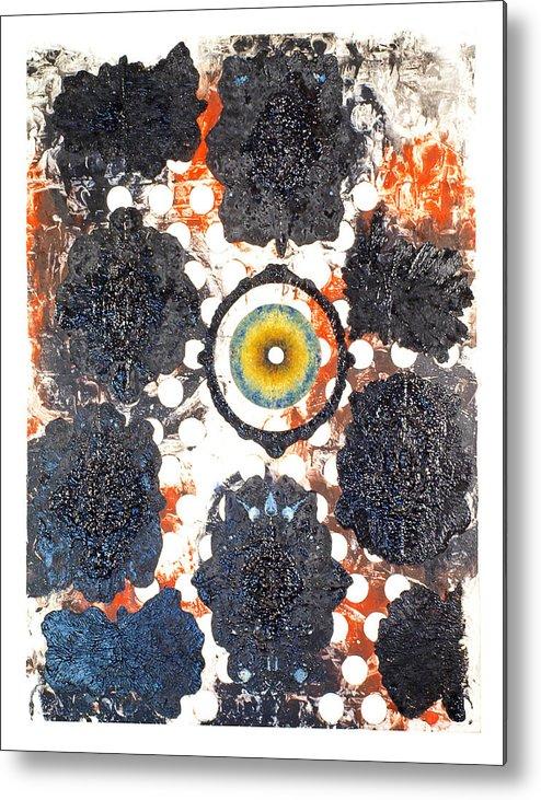 Symmetry Metal Print featuring the painting La Pleureuse by Howard Goldberg