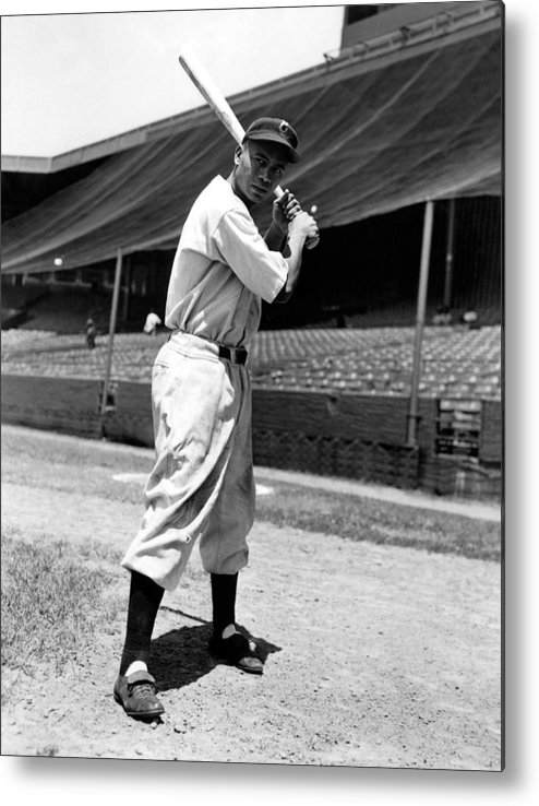 1940s Portraits Metal Print featuring the photograph Larry Doby, Circa 1947 by Everett