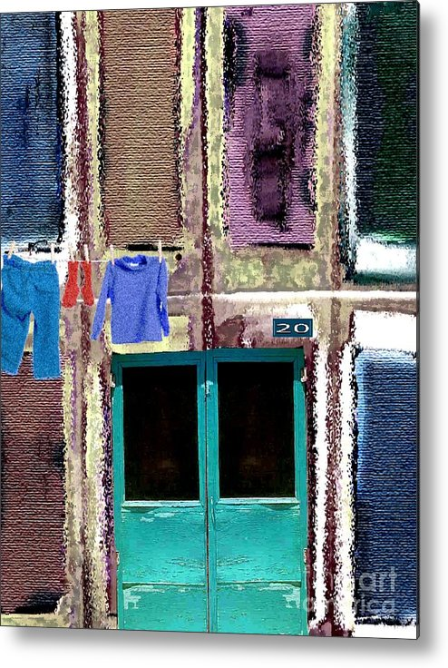Laundry Metal Print featuring the digital art Laundry Day by Mimo Krouzian