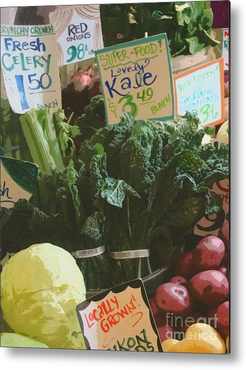 Kale Metal Print featuring the photograph Lovely Kale by Lydia L Kramer