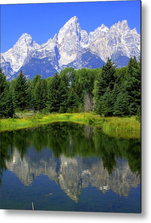 Grand Teton National Park Metal Print featuring the photograph Majestic Tetons by Marty Koch