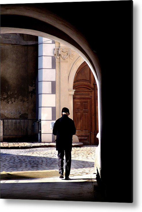 Europe Metal Print featuring the photograph Man In The Archway by Todd Fox