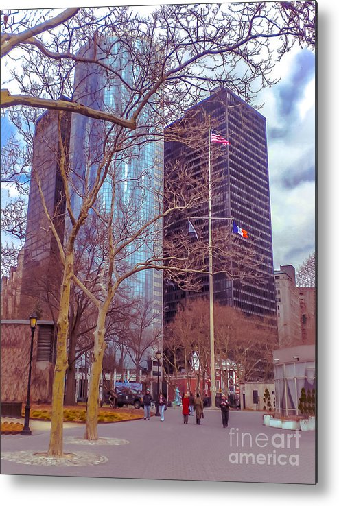 Urban Metal Print featuring the photograph Manhattan by Claudia M Photography