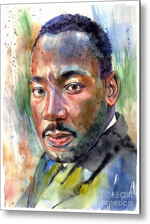 Martin Luther King Jr Metal Print featuring the painting Martin Luther King Jr. Painting by Suzann Sines